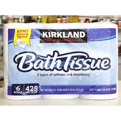 Kirkland Signature Bath Tissue, 6 Rolls, 425 Sheets Per Roll