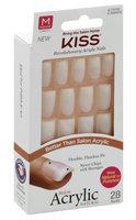 Kiss Salon Acrylic Nautral 28 Nails Medium Length KSAN02 Euphoria