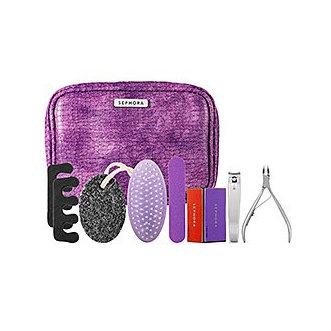 SEPHORA COLLECTION Deluxe Pedicure Kit Purple Faux Snakeskin