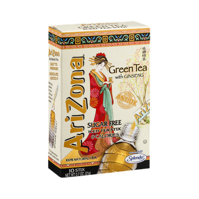 AriZona Sugar Free Green Tea with Ginseng Iced Tea Stix