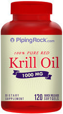Piping Rock Krill Oil 1000mg 120 Softgels