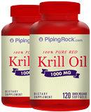 Piping Rock Krill Oil 1000 mg 2 x 120 Softgels