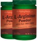 Piping Rock L-Arginine Powder 2 Bottles x 1 lb (454 g)
