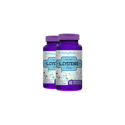 Piping Rock L-Cysteine 500 mg 2 Bottles x 60 Capsules