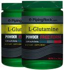 Piping Rock L-Glutamine Powder 24 oz 2 Bottles x 12 oz