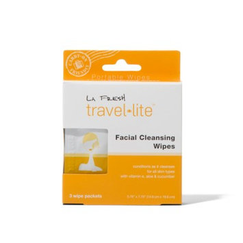 LA FRESH Travel Lite Facial Cleansing Wipes - 3 pack