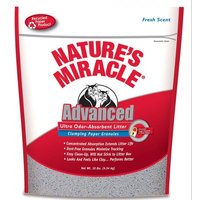 Nature's Miracle® Advanced Ultra Odor-Absorbent Litter Clumping Paper Granules
