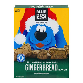 BLUE DOG BAKERY® Natural Low Fat Dog Treats Gingerbread Flavor