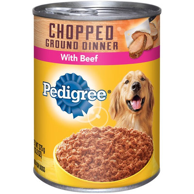 Pedigree® Meaty Chopped Ground Dinner with Beef Canned Dog Food