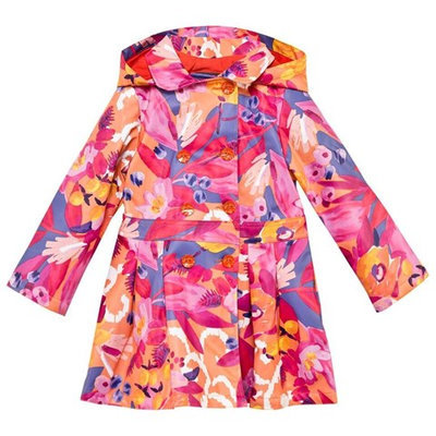 Floral Hooded Rain Mac