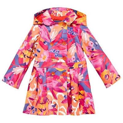 Floral Hooded Rain Mac
