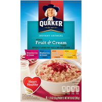 Quaker® Instant Oatmeal Fruit And Cream Variety Pack