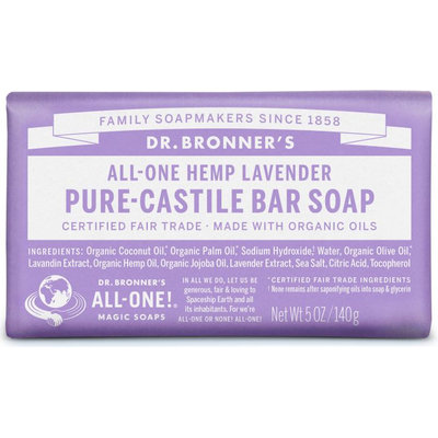 Dr. Bronner's All-One Hemp Lavender Pure - Castile Bar Soap