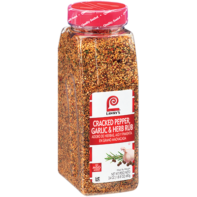 McCormick® Lawrys® Cracked Pepper, Garlic & Herb Rub