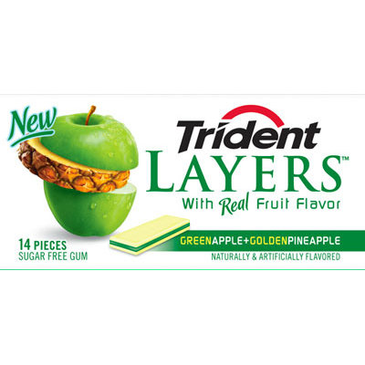 Trident Layers® Green Apple + Golden Pineapple
