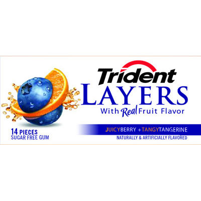 Trident Layers Juicy Berry + Tangy Tangerine