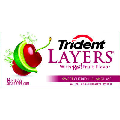 Trident Layers Sweet Cherry + Island Lime