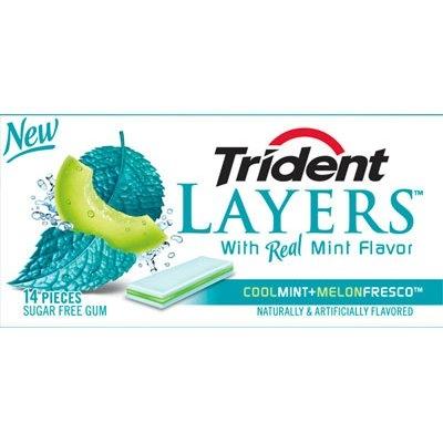 Trident Layers Cool Mint and Melon Fresco Sugar Free Gum- 3 PK