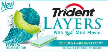 Trident Layers® Cool Mint + Melon Fresco