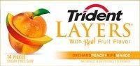 Trident Layers Orchard Peach + Ripe Mango