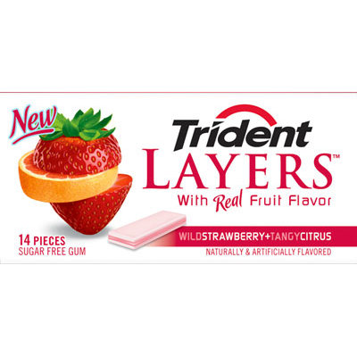 Trident Layers Wild Strawberry+Tangy Citrus