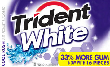 Trident White Cool Rush Gum