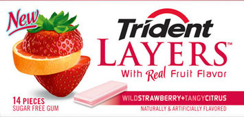 Trident Layers® Wild Strawberry + Tangy Citrus