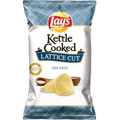 Lay's® Kettle Cooked Lattice Cut Sea Salt Potato Chips