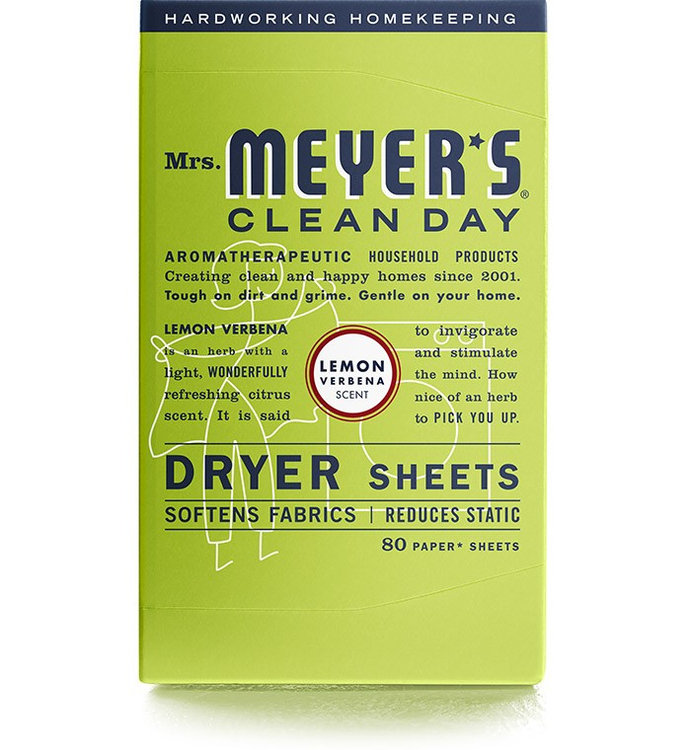 Mrs. Meyer's Clean Day Lemon Verbena Dryer Sheets
