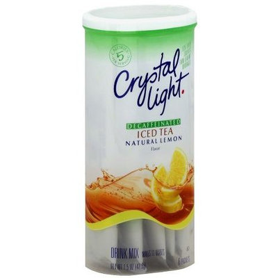 Crystal Light Natural Lemon Decaffeinated Iced Tea Drink Mix