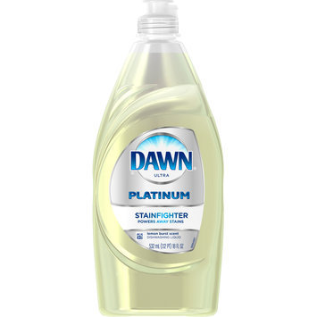 Dawn Platinum Stain Fighter Dishwashing Liquid Lemon Burst