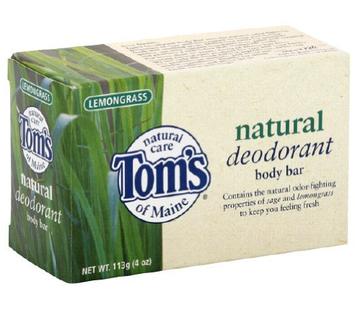 Tom's OF MAINE Natural Deodorant Body Bar Lemongrass