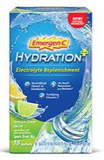 Emergen-C Hydration+ Electrolyte Replenishment Lemon-Lime Twist