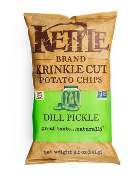 Kettle Brand® Dill Pickle Krinkle Cut Potato Chips