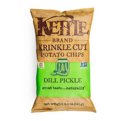 Kettle Brand® Dill Pickle Krinkle Cut™ Potato Chips
