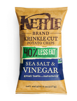 Kettle Brand® Krinkle Cut Sea Salt & Vinegar Potato Chips