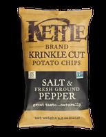 Kettle Brand® Salt & Fresh Ground Pepper Krinkle Cut Potato Chips