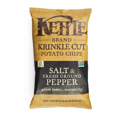 Kettle Brand® Salt & Fresh Ground Pepper Krinkle Cut™ Potato Chips