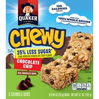 Quaker® 25% Less Sugar Chewy Granola Bars Chocolate Chip