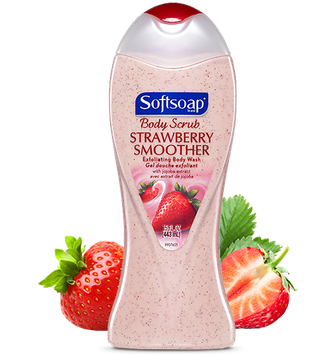 Softsoap® Body Scrub Strawberry Smoother Exfoliating Body Wash