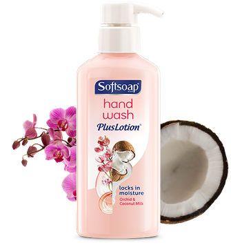 Softsoap® Orchid & Coconut Milk Hand Wash Plus Lotion™ Hand Soap
