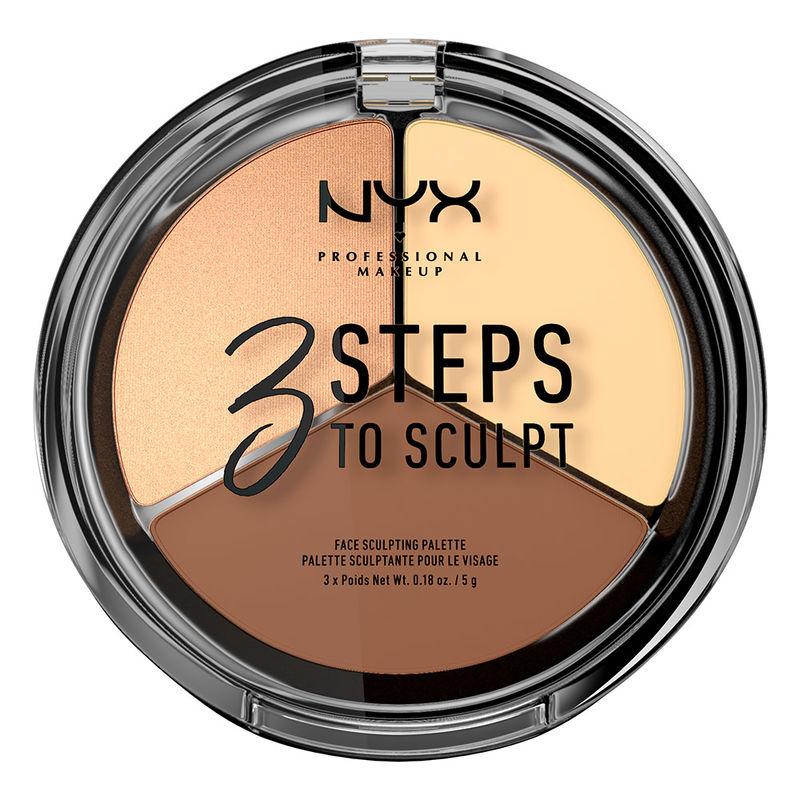 NYX 3 Steps to Sculpt Face Sculpting Palette