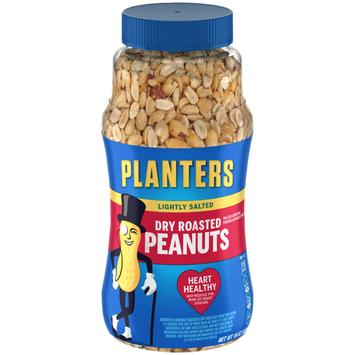 Planters Lightly Salted Dry Roasted Peanuts Jar