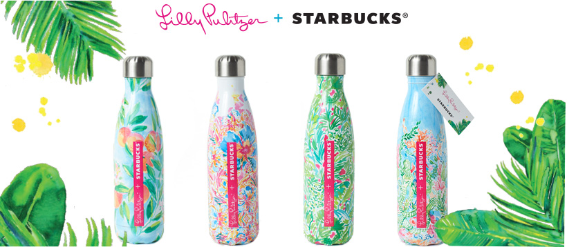Lily Pulitzer + Starbucks x S'well Water Bottle