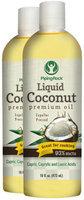 Piping Rock Liquid Coconut Premium Oil 2 Bottles x 16 fl oz (473 mL)