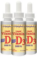 Piping Rock Vitamin D3 2000 IU 3 Bottles x 1 fl oz Liquid