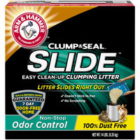 ARM & HAMMER™ SLIDE™ Easy Clean-Up Clumping Litter Non-Stop Odor Control