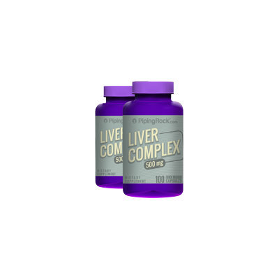 Piping Rock Liver Capsules 500 mg 2 Bottles x 100 Capsules