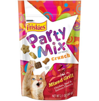 Friskies® Party Mix Cat Treats Mixed Grill Crunch Chicken Beef & Salmon Flavors