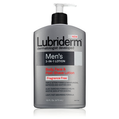 Lubriderm Men's 3-in-1 Fragrance-Free Lotion